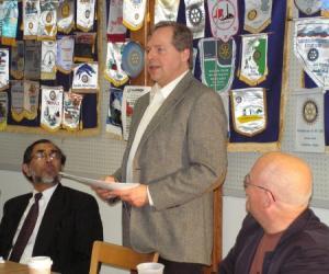 Kurt Luchs Tells An Audience At Western Illinois University What Makes Stuff Funny
